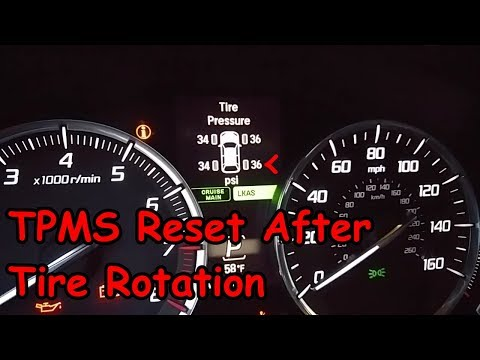 How to Reset the TPMS After Tire Rotation - Acura MDX