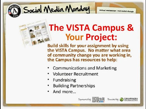 Social Media Monday: VISTA Campus and Your Project