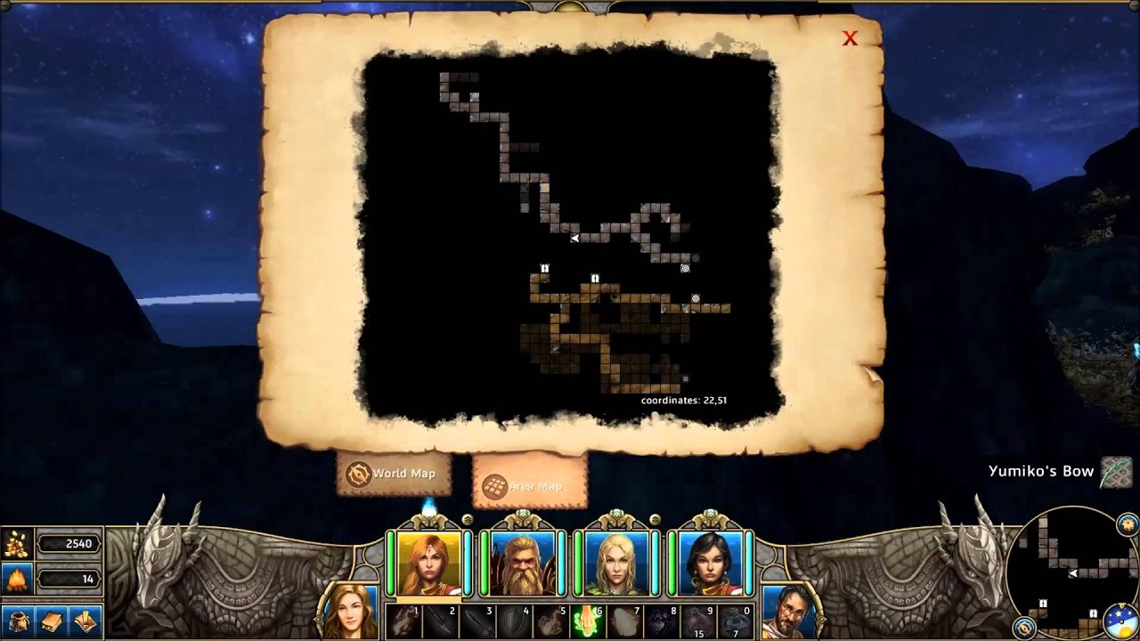 Might And Magic X World Map.Might And Magic X Legacy Get To Wyslin Jungle Youtube