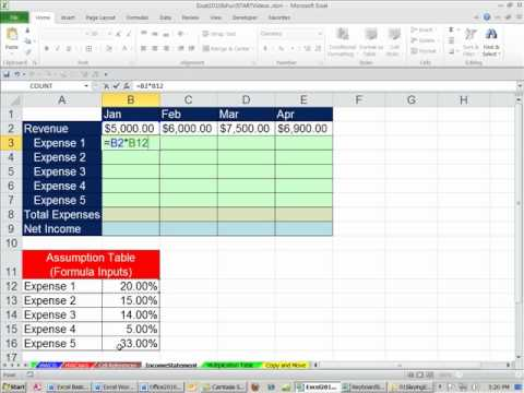 Office 2010 Class #25: Excel Cell References: Relative, Absolute, Mixed