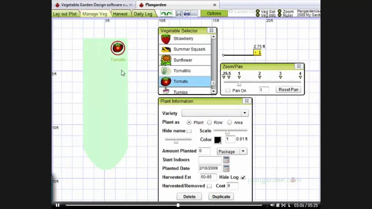 Garden Planning Software