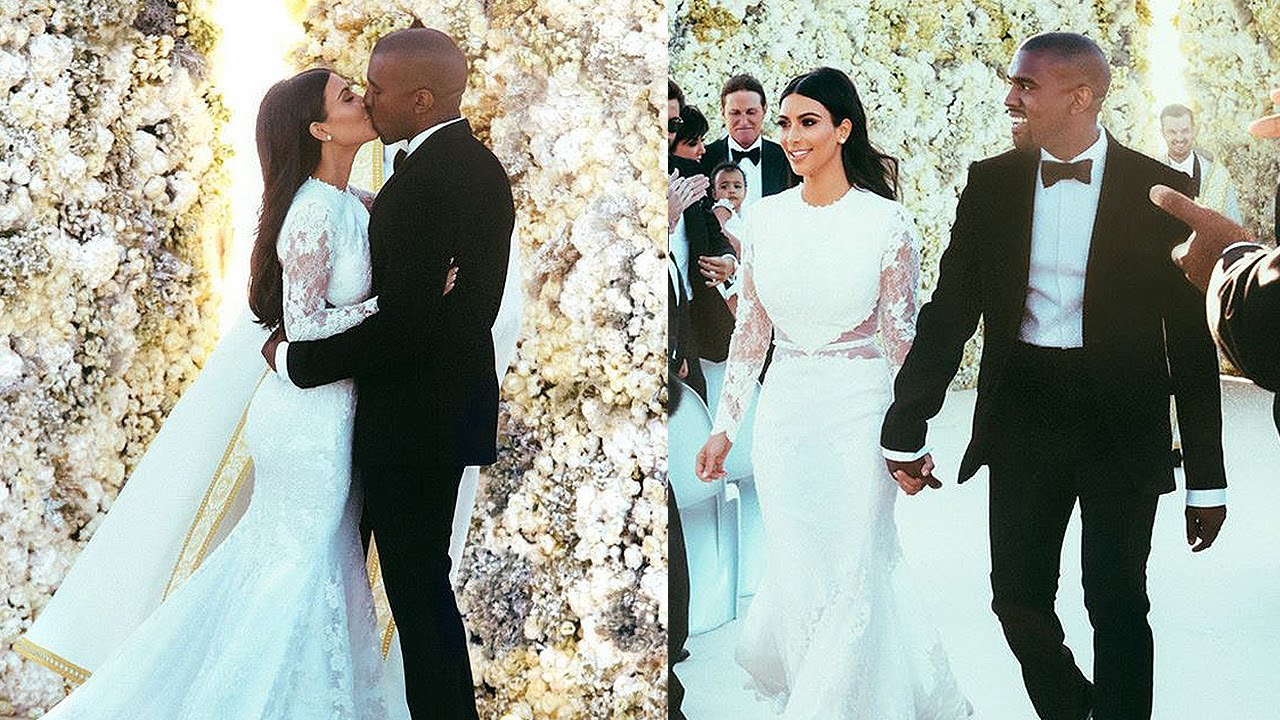 Kim Kardashian Amp Kanye West Wedding Photos Youtube