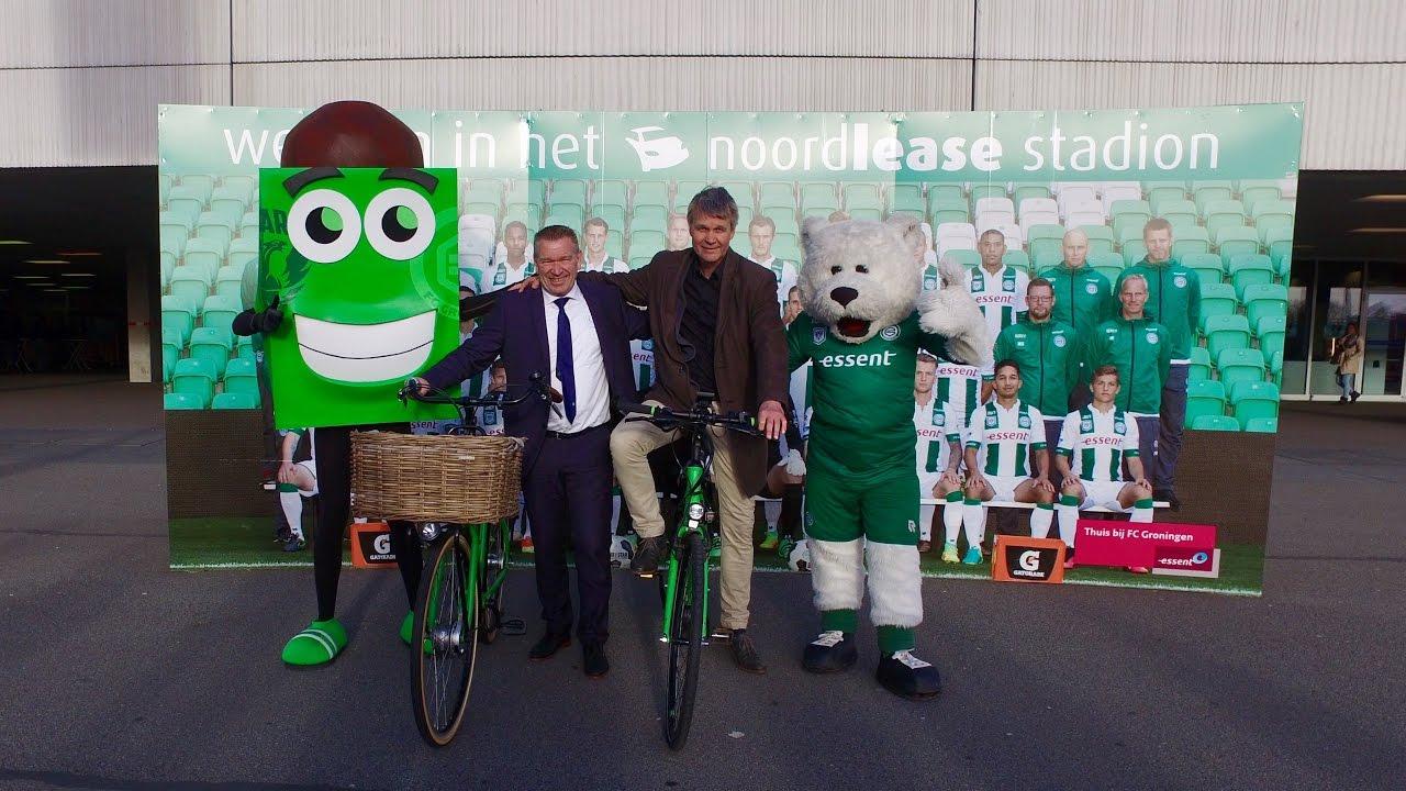 FC Groningen en Groningen Bereikbaar dagen Groningers uit vaker de fiets te pakken