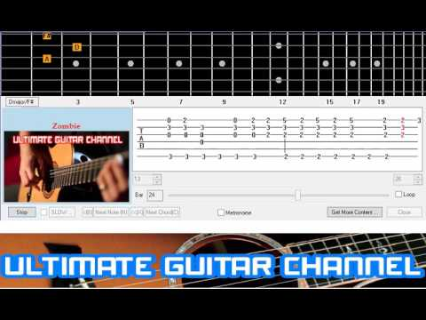 Guitar zombie guitar tabs : Guitar Solo Tab] Zombie (Cranberries) - YouTube