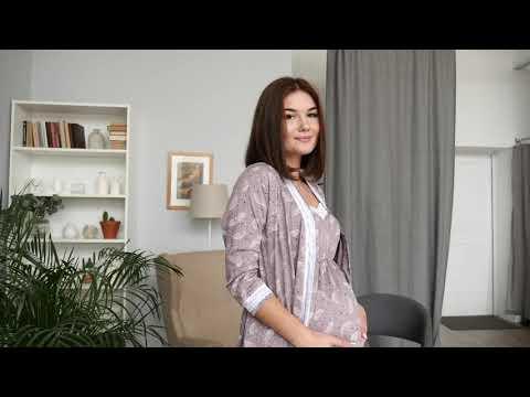 Халат и сорочка для беременных и кормящих мам/ Halatik.by