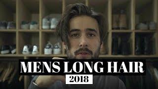 Mens Long Hair Style 2018   Hair Growth Update   How I Style My Hair