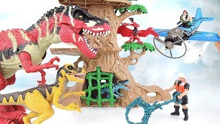 Dinosaurs Hunter | Jurassic World T Rex Fun Toys For Kids. Learn Names of Dinosaurs~ 공룡 사냥꾼