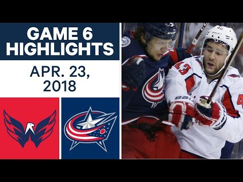 NHL Highlights | Capitals vs. Blue Jackets, Game 6 - Apr. 23, 2018