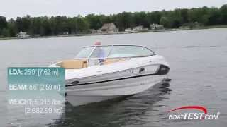 Cruisers Sport Series 258 Bow Rider Test 2015- By BoatTest.com