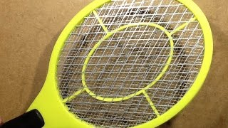 inside a bug zapper racket racquet with schematic