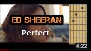 Perfect - Ed Sheeran (guitar chords)