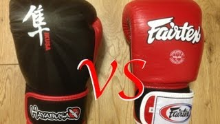 review comparison fairtex bgv1 vs hayabusa ikusa 14oz