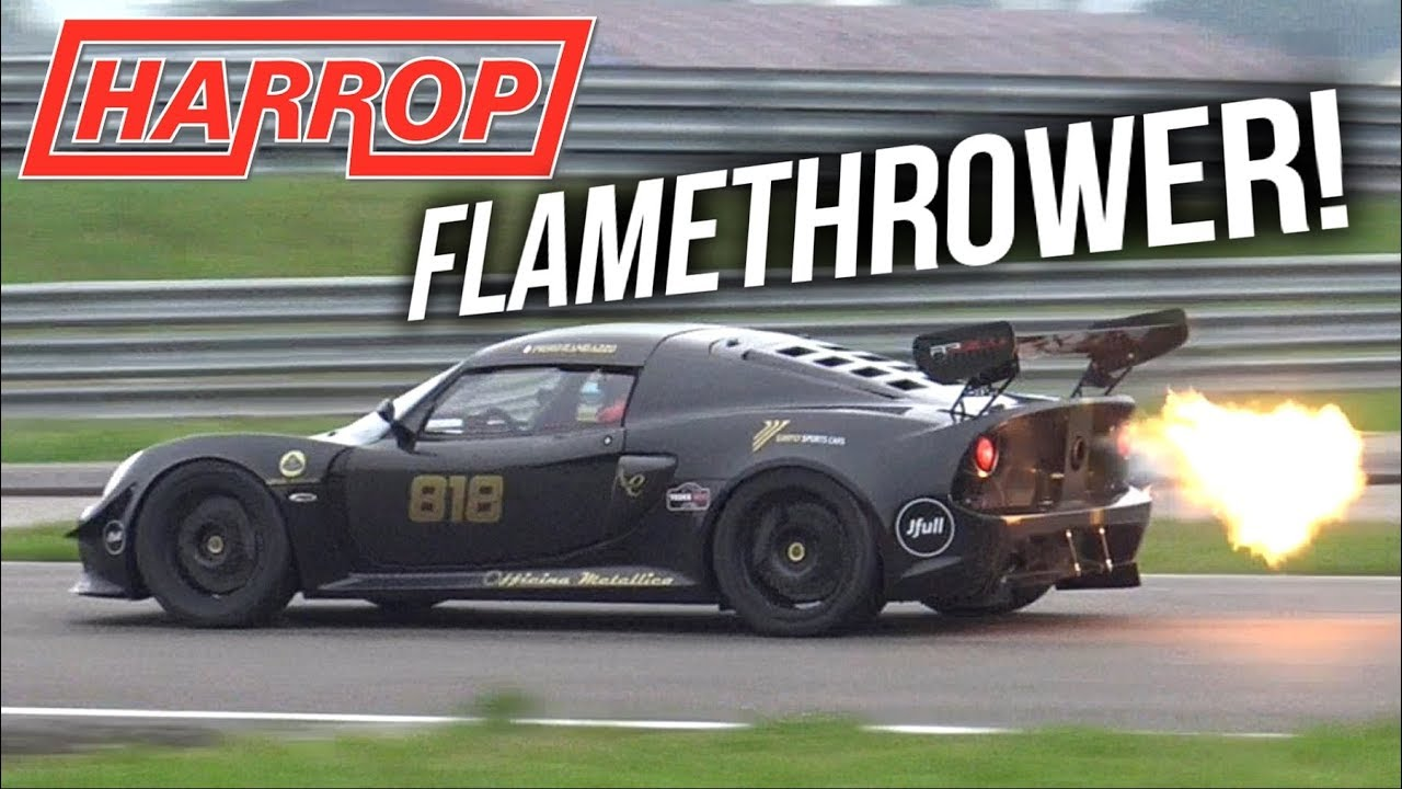 450 Hp Harrop Supercharged Lotus Exige S V6 Epic Sounds Flames