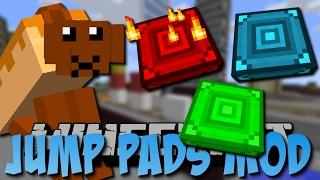 Minecraft JUMP PADS MOD (Trampolin, Troll Pads und mehr) [Deutsch]