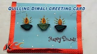 DIY Paper Quilling Diwali Greeting Card - JK Arts 162