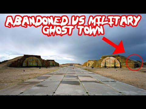 ABANDONED US MILITARY GHOST TOWN! I FOUND THIS INSIDE!