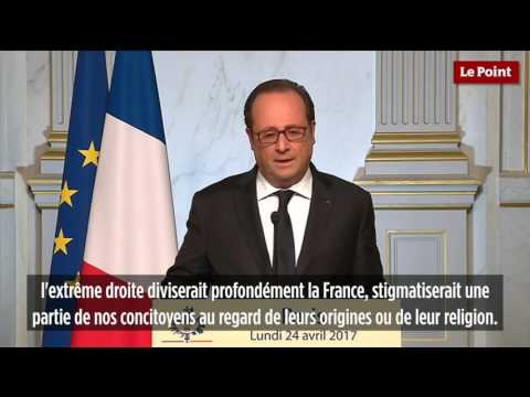 François Hollande appelle à voter Emmanuel Macron au second tour
