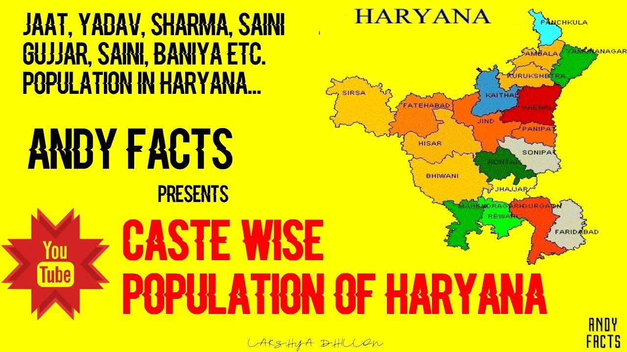 Caste Wise Population of Haryana 2018