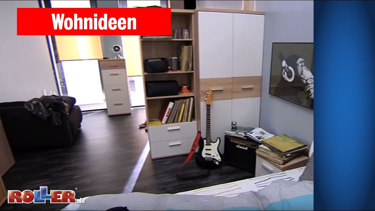 jugendzimmer einrichten f r musiker roller wohnideen youtube. Black Bedroom Furniture Sets. Home Design Ideas