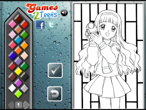 Anime Coloring Pages for Kids Anime Coloring Pages YouTube