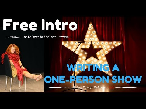 Intro to a One Person Show (Virtual Class)