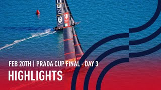 PRADA Cup Final Day 3 Highlights