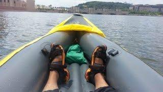 testing explorer k2 kayak on putrajaya lake