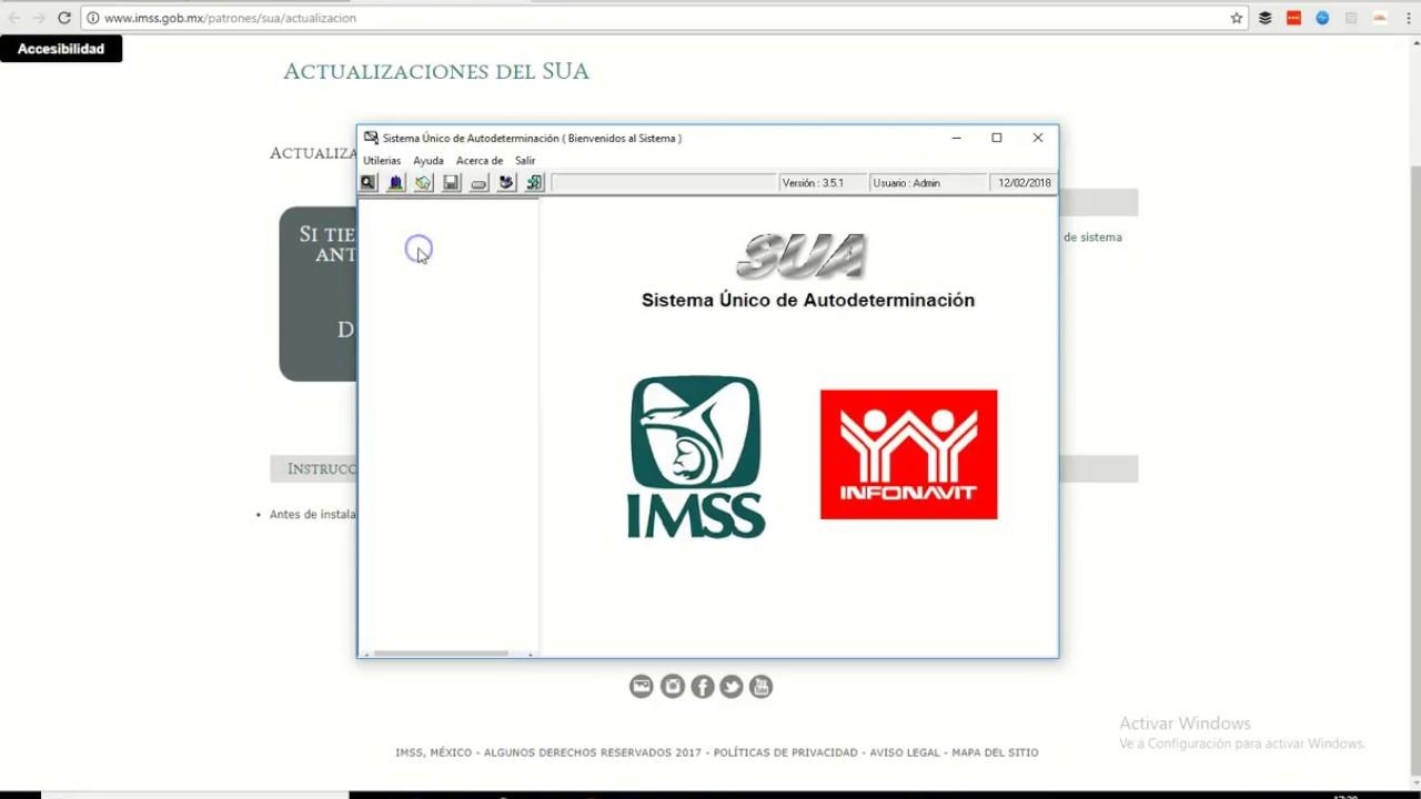 Instalar SUA 2018 cálculo de cuotas obrero-patronales del IMSS - YouTube
