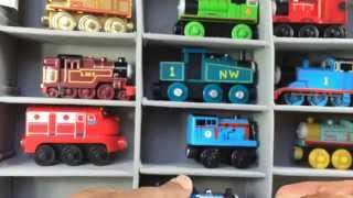 Thomas And Friends Wooden Toy Trains, Disney Cars, Chuggington In A Case