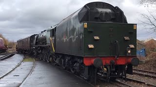 A Broken 46233 Duchess of Sutherland Crewe heritage Centre to Butterley MRC 27th November 2017