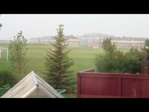 Hailstorm Airdrie AB July 30, 2016 part 1