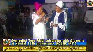 EVANG TOPE ALABI LIVE AT HAVILAH 13TH ANNIVERSARY