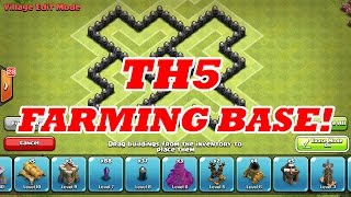 BEST TH5 FARMING BASE | MOST USED/SUCCESSFUL | Clash Of Clans