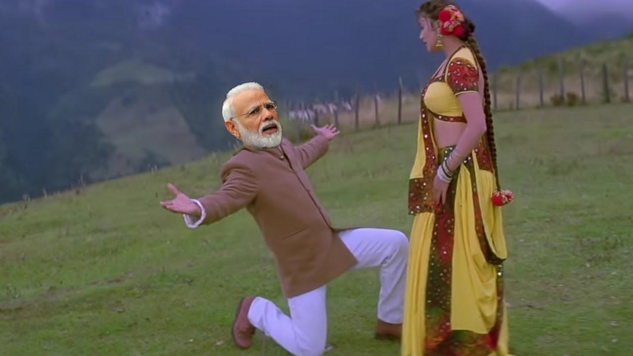 Dekha Tujhe To Ho Gayi Deewani    Shahrukh khan    Madhuri dxit   Modi & Rahul Gandhi    koyla song
