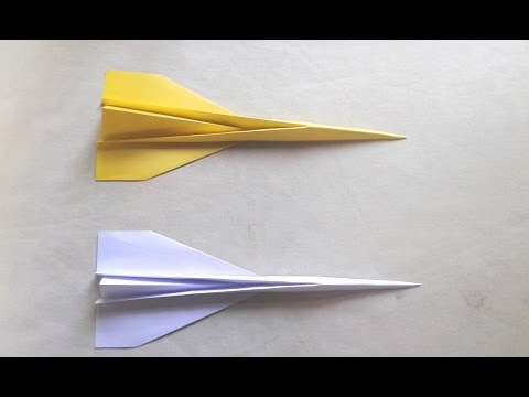How to make a Concord Paper Airplane that is so easy ! Paper Craft