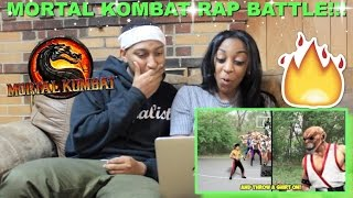 "Couple Reacts : ""MORTAL KOMBAT: EPIC RAP BATTLE!"" By DashieXP Reaction!!"