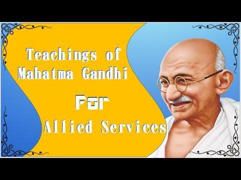 Allied Services | Teachings of Mahatma Gandhi Part II | MCQs