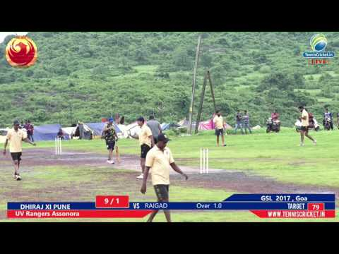 Dhiraj XI Pune vs Raigad (part- 1 )   GSL - 2017 , Goa