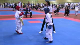 Taekwondo ITF Мухин Дмитрий (RUS) - Нуруллин Тимур (RUS) 1/2 Минск Кубок СНГ 2015