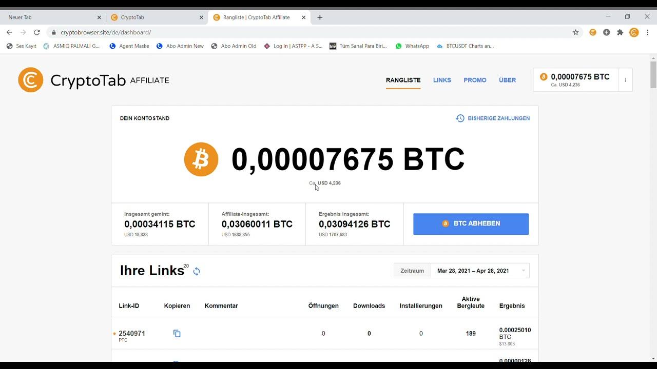 CRYPTOTAB BROWSER REVIEW 20💥 Internet Geldverdienen   Bitcoin ...