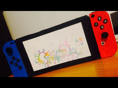 Nintendo SWITCH from CARDBOARD - REPLICA [DIY]