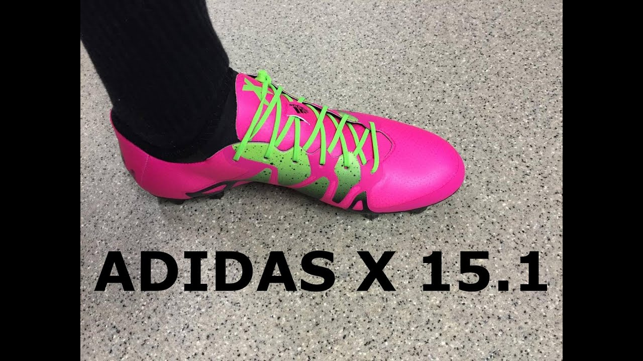 57b9f0ab9 Adidas X 15.1 Pink Unboxing - YouTube
