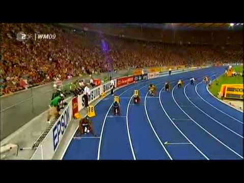 Usain Bolt - 200m Final - New WR 19,19 sec !!! (HQ)