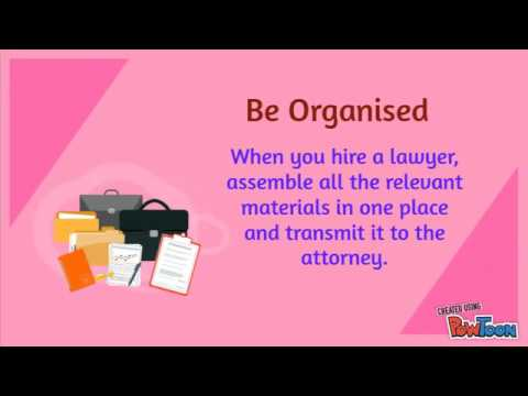 Tips for Working with a Lawyer
