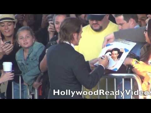 Dermot Mulroney greets fans at the Jobs premiere at LA Live in LA