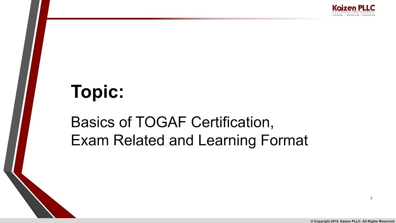 Basics of TOGAF Certification, exam info and how-to read G116 specs ...