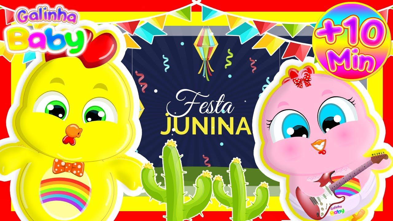DVD Festa Junina da Galinha Baby com 30 Minutos de Música Infantil Educativa
