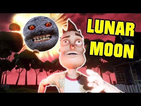 The LUNAR MOON In HELLO NEIGHBOR! - Hello Neighbor Scary Night Red Moon Mod Gameplay