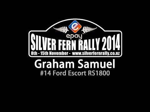 Graham Samuel - Ford Escort - Silver Fern Rally 2014