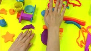 Лепим вместе из Плэй До. Видео для детей. Пластилин Play-Doh животные фрукты